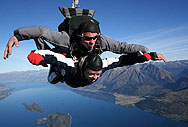 NZ Skydiving over Paradise